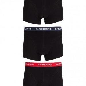 Björn Borg Short Shorts Contrast Solid 3-Pack NOOS Bokserit Black