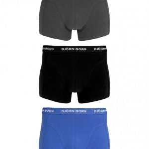 Björn Borg Short Shorts Seasonal Solids 3-Pack Bokserit Dazzling Blue