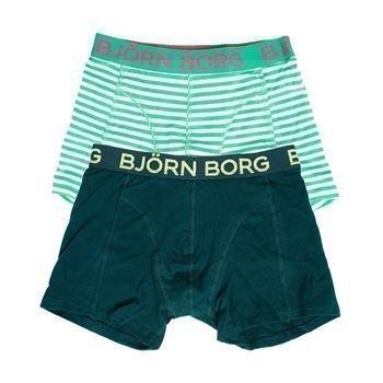 Björn Borg Summer Stripe Shorts Bright Green 2 pakkaus