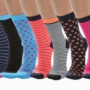 Blacc 7-Pack Socks Puuvillasukat Värikäs
