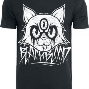 Black Blood Mad Kitty T-paita