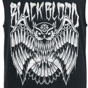 Black Blood Night Owl Tank Toppi