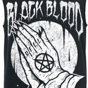 Black Blood Praying Hands Tank Toppi