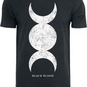 Black Blood Triple Moon T-paita
