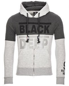 Black Deep Hoodie Grey