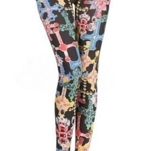 Black Leggings Tights with color cross