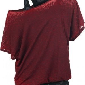 Black Premium By Emp 2 In1 Skull Bat Burnout Shirt Naisten T-paita