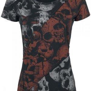 Black Premium By Emp Bad Skulls Contrast Shirt Naisten T-paita