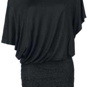 Black Premium By Emp Bat Double Layer Dress Mekko
