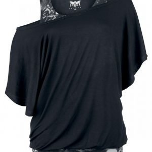 Black Premium By Emp Bat Double Layer Naisten T-paita
