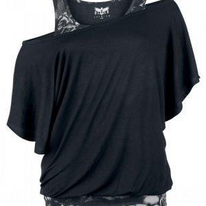 Black Premium By Emp Bat Double Layer Naisten T-paita