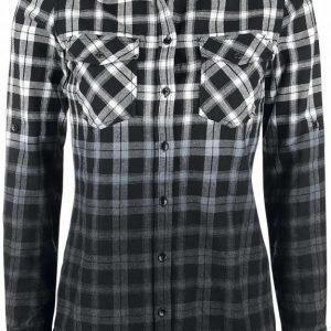 Black Premium By Emp Checked Dip Dye Shirt Naisten Pusero