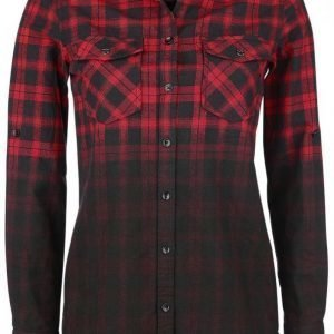 Black Premium By Emp Checked Dip Dye Shirt Naisten Pusero