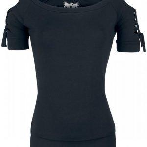 Black Premium By Emp Cold Shoulder Shirt Naisten T-paita