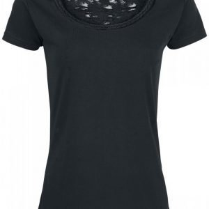 Black Premium By Emp Cut Out Lace Shirt Naisten T-paita