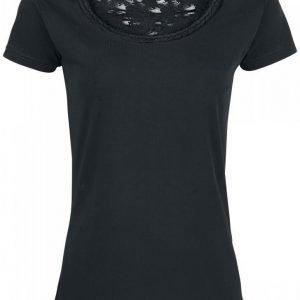 Black Premium By Emp Cut Out Lace Shirt Naisten T-paita