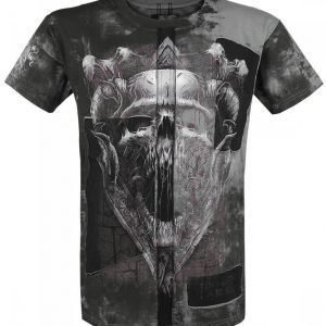 Black Premium By Emp Dark Skull Cut Out T-paita