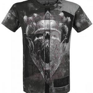 Black Premium By Emp Dark Skull Cut Out T-paita