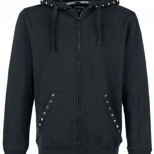 Black Premium By Emp Dark Studded Hoodie Vetoketjuhuppari