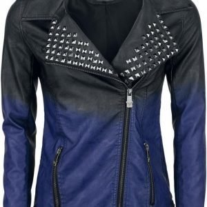 Black Premium By Emp Dip Dye Pu Jacket Naisten Välikausitakki