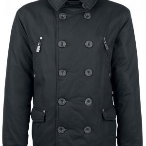 Black Premium By Emp Double Breasted Jacket Talvitakki