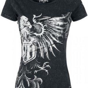 Black Premium By Emp Eagle Cut Out Shirt Naisten T-paita