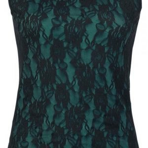 Black Premium By Emp Floral Lace Top Naisten Toppi