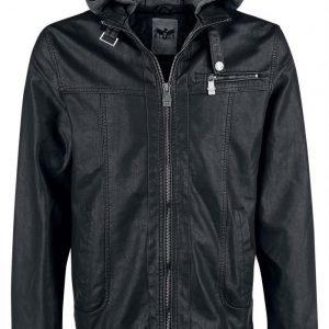 Black Premium By Emp Grey Hooded Jacket Välikausitakki