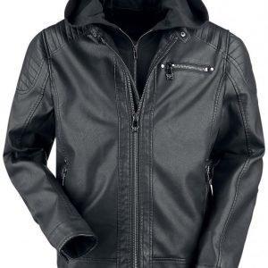 Black Premium By Emp Hooded Biker Jacket Takki