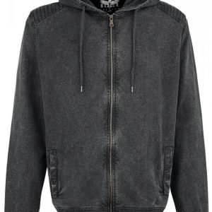 Black Premium By Emp Hooded Burnout Basic Jacket Vetoketjuhuppari