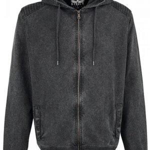 Black Premium By Emp Hooded Burnout Basic Jacket Vetoketjuhuppari