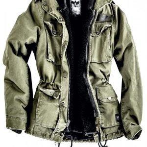 Black Premium By Emp Ladies Army Field Jacket Naisten Talvitakki