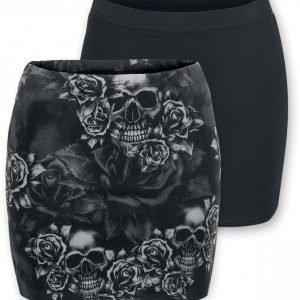 Black Premium By Emp Ladies Skirts 2 Kpl Setti Lyhyt Hame
