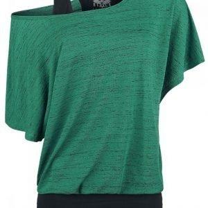 Black Premium By Emp Ladies Slubyarn Double Layer Naisten T-paita