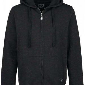 Black Premium By Emp Melange Hoodie Jacket Vetoketjuhuppari