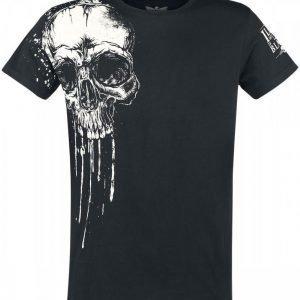 Black Premium By Emp Melting Skull T-paita