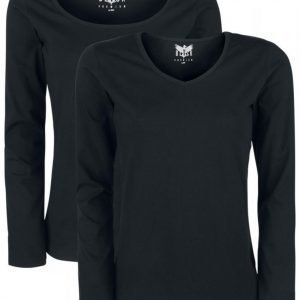 Black Premium By Emp Pack Of Two Basic Longsleeves Naisten Pitkähihainen Paita