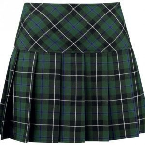 Black Premium By Emp Pleated Checked Skirt Lyhyt Hame