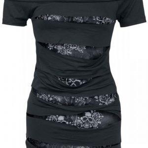 Black Premium By Emp Rose Skull Naisten T-paita