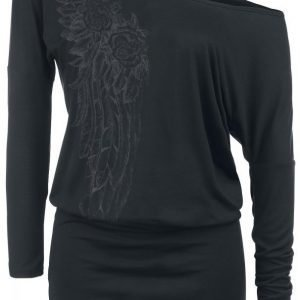 Black Premium By Emp Roses Wings Ladies Tee Dress Mekko