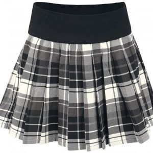 Black Premium By Emp Short Wrinkles Skirt Lyhyt Hame