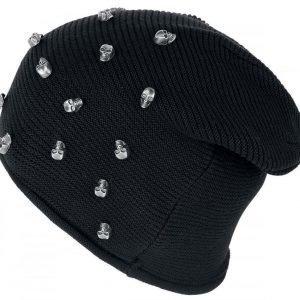 Black Premium By Emp Skull Beanie Pipo