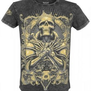 Black Premium By Emp Skull King Lava Shirt T-paita