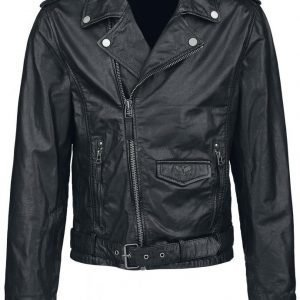 Black Premium By Emp Skull Leather Jacket Nahkatakki