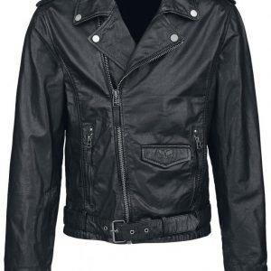 Black Premium By Emp Skull Leather Jacket Nahkatakki
