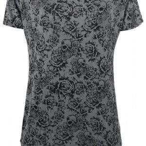Black Premium By Emp Skull & Roses Naisten T-paita