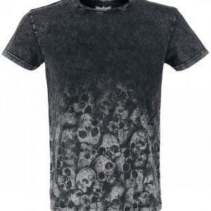 Black Premium By Emp Skulls Crinkle Roundneck T-paita
