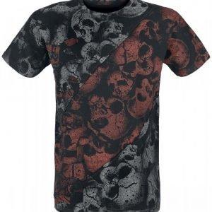 Black Premium By Emp Skulls Cut Out Shirt T-paita