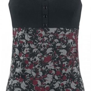 Black Premium By Emp Splattered Skull Top Naisten Toppi