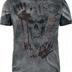 Black Premium By Emp Spray Washed Viking T-paita